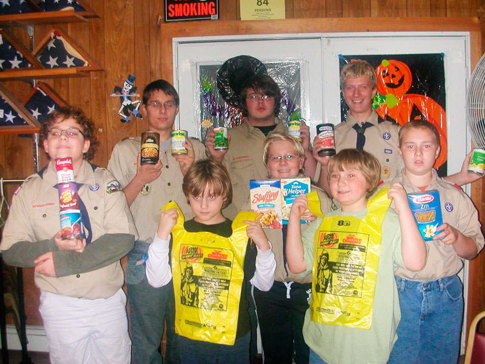 Boy Scouts annual food drive