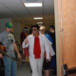 Greenwich FFA advisor Levi Cahan and Elvis