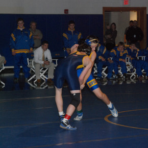 Nathaniel Palmer works his way to a 3-0 decision over Morey from Warrensburg. Dec. 2, 2010.