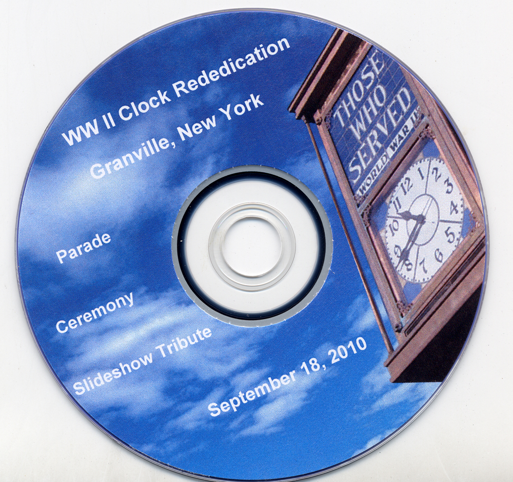 WWII Clock Rededication now on DVD