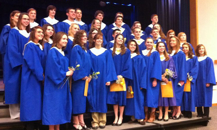 National Honor Society Inducts 16 at Granville HS