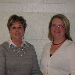 Lori Dufrain and Leah Leibacher nationally board certified teachers.