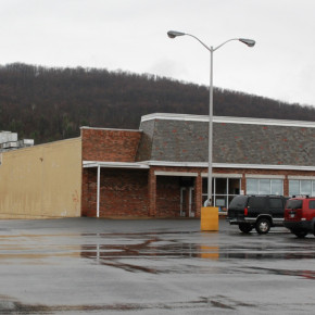 The southern end of the Granville Plaza, future location of Tractor Supply Co.