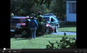 Contributed video: Potter Avenue car head-on crash