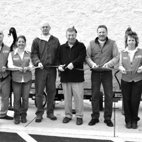 TSC ribbon cutting BW web
