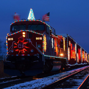 holiday train for stepping out