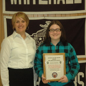 Student of the month-Nicole Moses