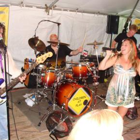 Kathi Jones with band