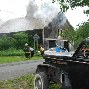 Barn fire with Olds