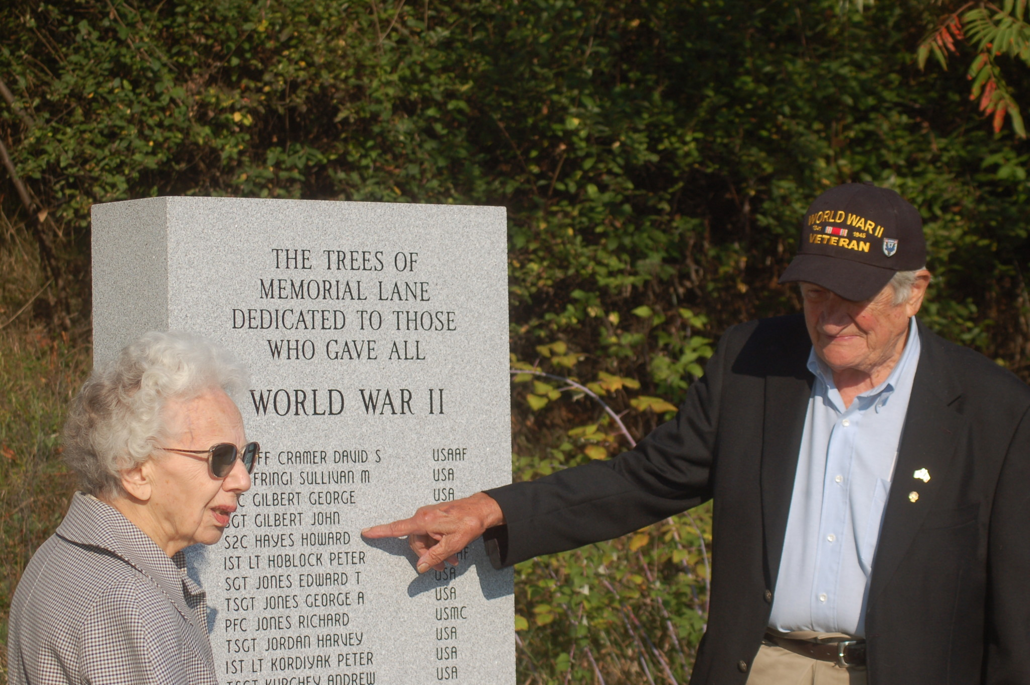 WWII Monument dedicated