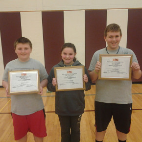 Elks Hoop Shooter winners