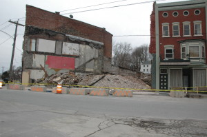 """The old """"Chase"""" building was removed last Thursday."""