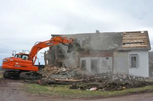 Meeting house demolished