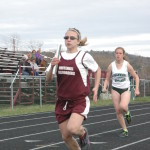 Morgan Winters finished in a tie for first place in the girls 100 meter dash at a recent track meet held in Whitehall.