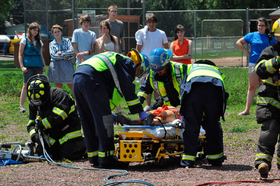 Granville holds mock prom crash