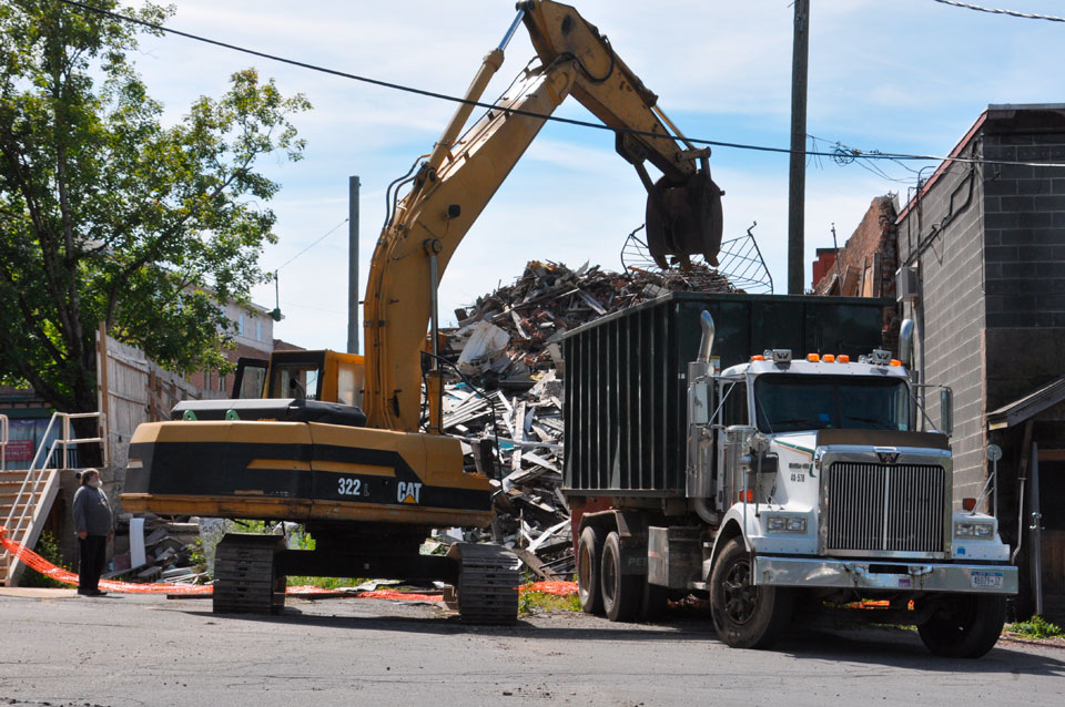 Machines at cleanup site