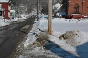 Wheeler Avenue sidewalk frozen
