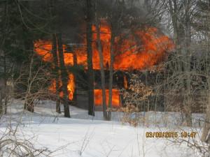 Hampton fire destroys home
