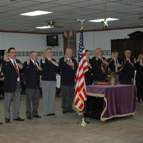 New Elks officers are sworn into office