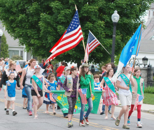 Hundreds join in Granville parade