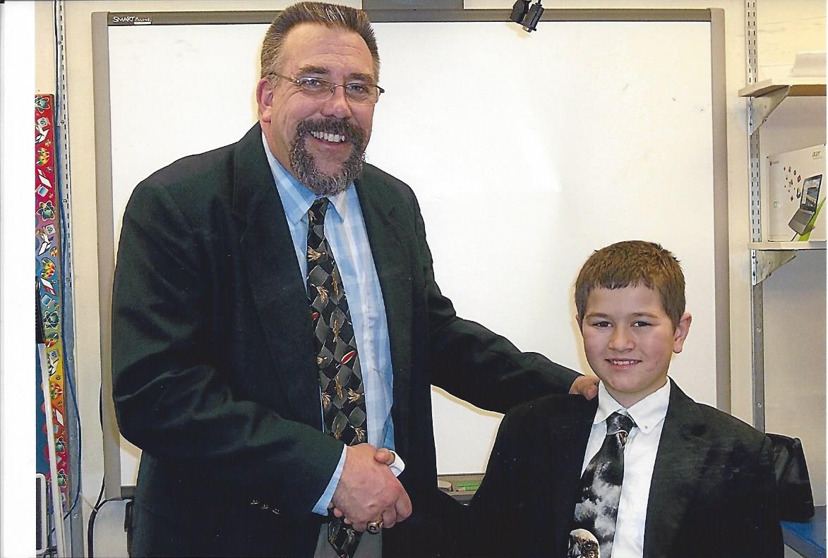 Principal builds 'budding relationship' with student