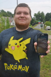 David McFarren has caught more than 50 Pokemon since the app launch three weeks ago.