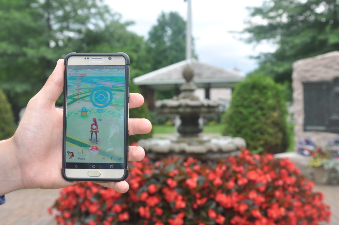 The Veterans Memorial Park is just one of several Pokestops in the village of Granville where players of the new 'Pokemon Go' mobile app can go to earn points and gather props to advance in the game.