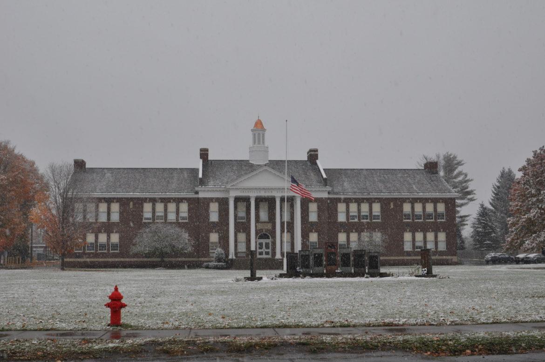 Granville high school snow