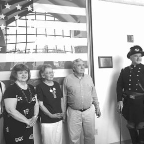Members of the Salem Civil War committee pose with Col. James Rogers, commander of the 123rd New York Volunteer Infantry Regiment.