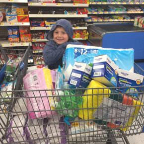 Jacob Terry, 6, of Whitehall, raised money to purchase supplies for Hurricane Harvey victims.