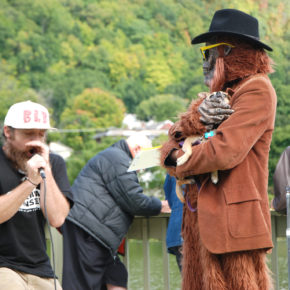 A popular part of Whitehall's Sasquatch Festival is the Sasquatch Calling Contest.