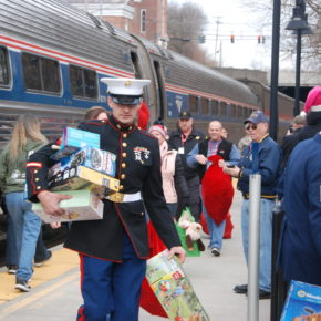 Toys for Tots train whitehall