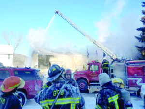 'It was brutal': First responders battle fire in sub-zero temps