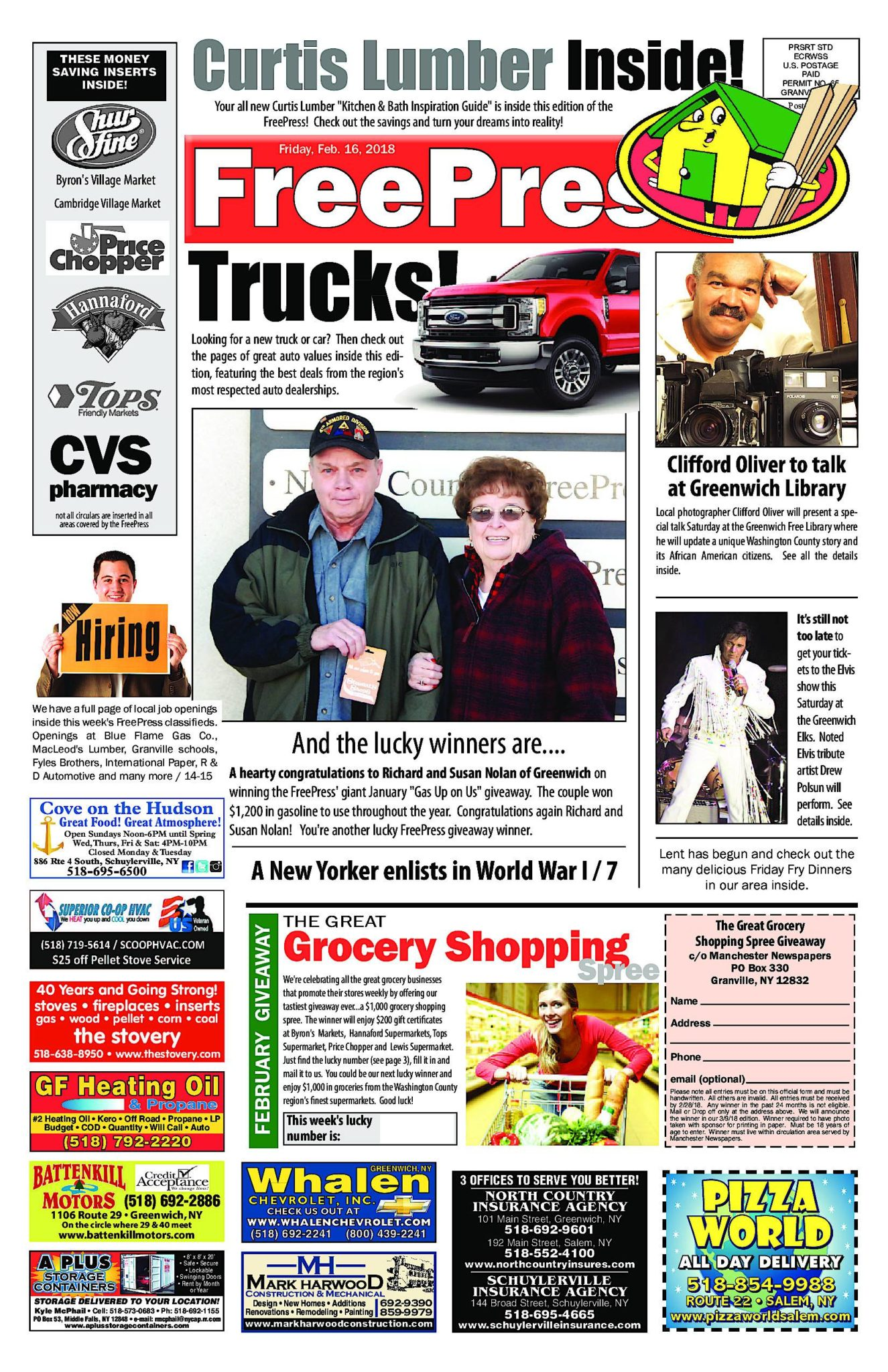 North Country Freepress – 02/16/18