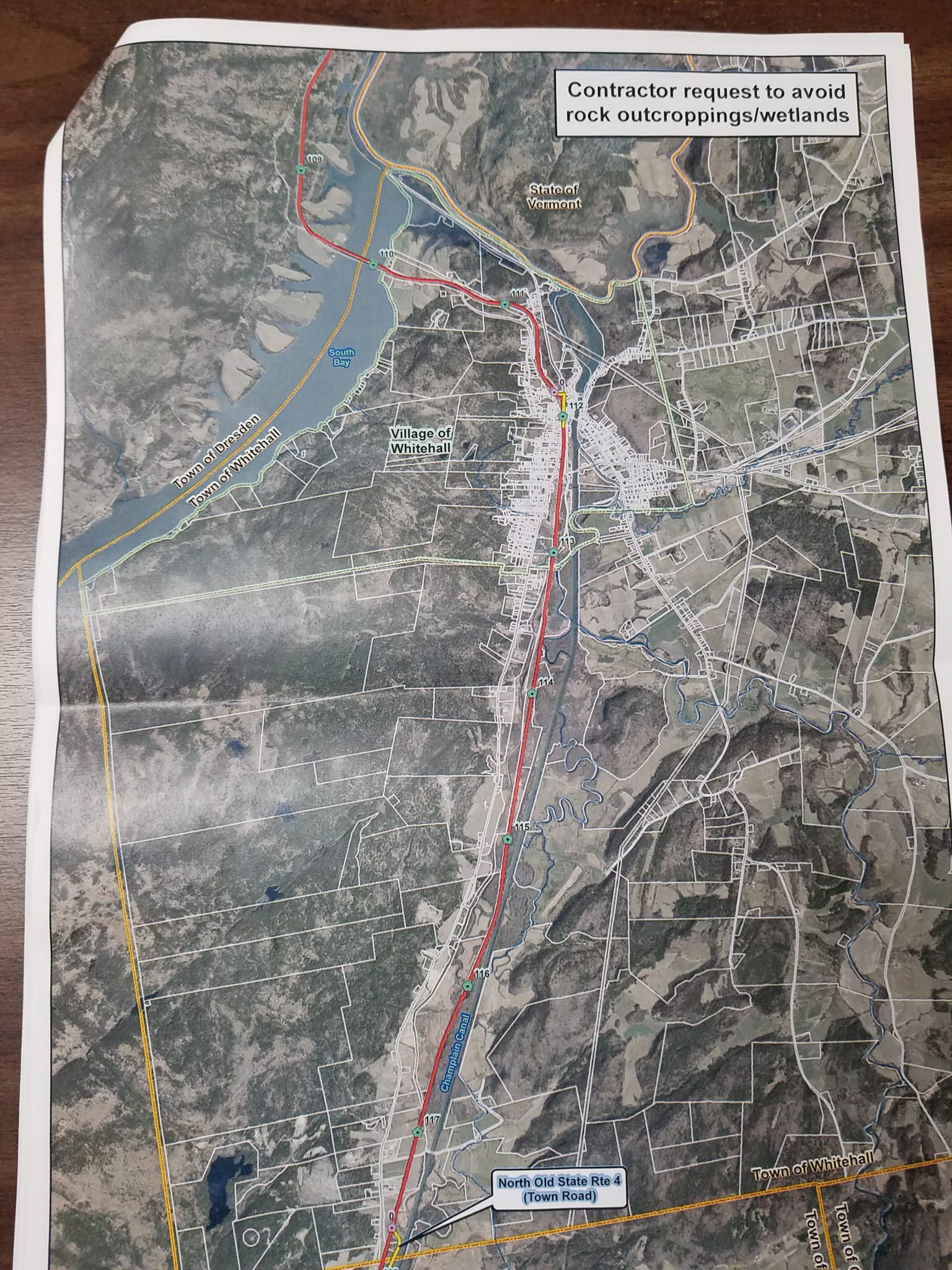 Changes approved to power line route through Whitehall