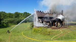 Fire destroys home, claims two dogs