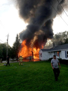 Firemen save home from 'ripping' flames