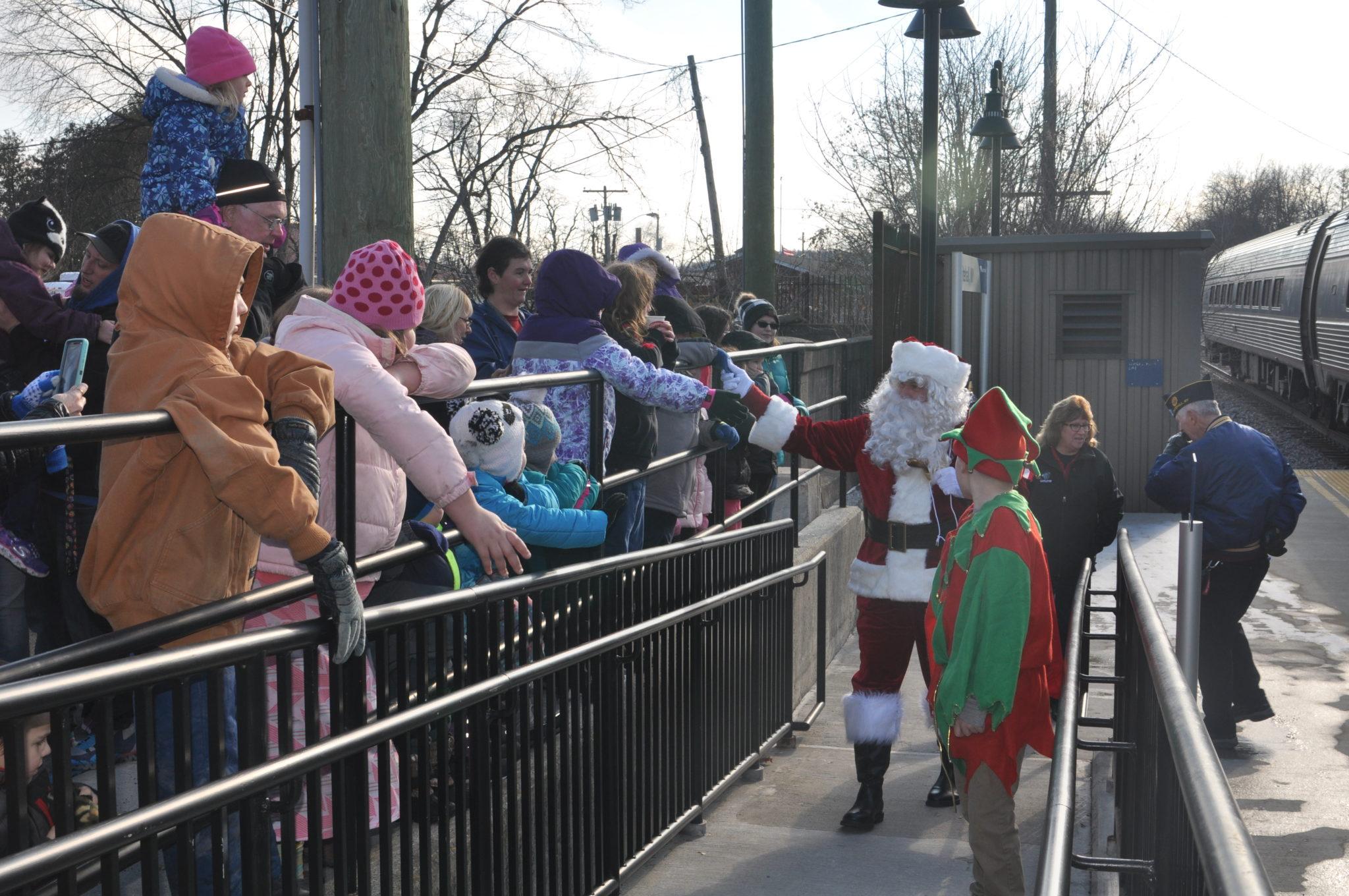 Santa visits Whitehall