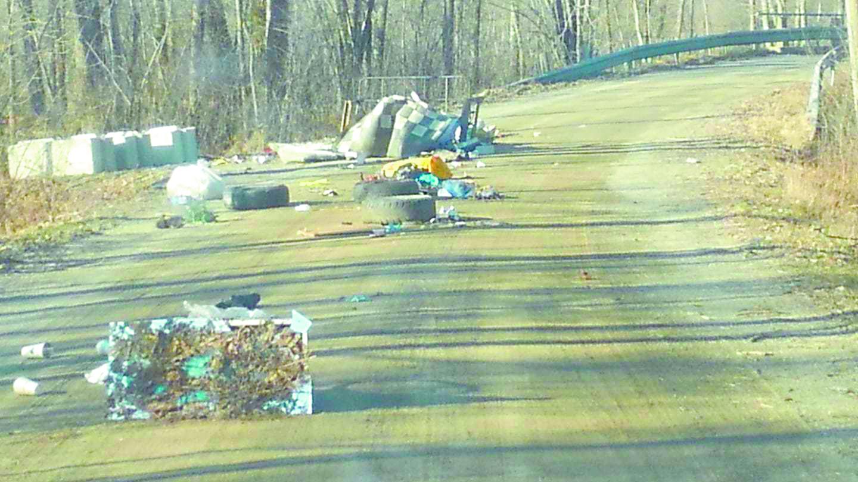 East Bay Road trashed