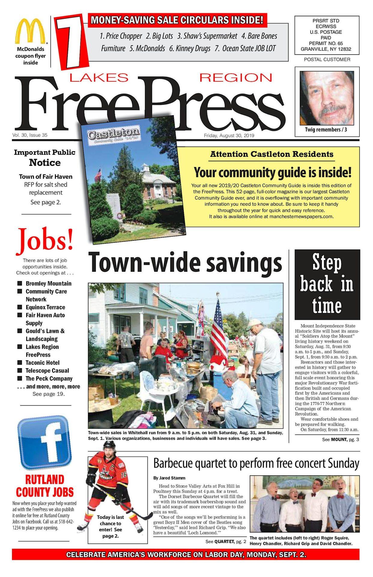 Lakes Region Freepress – 08/30/19