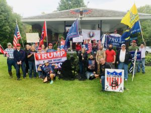 50 Trump supporters attend rally