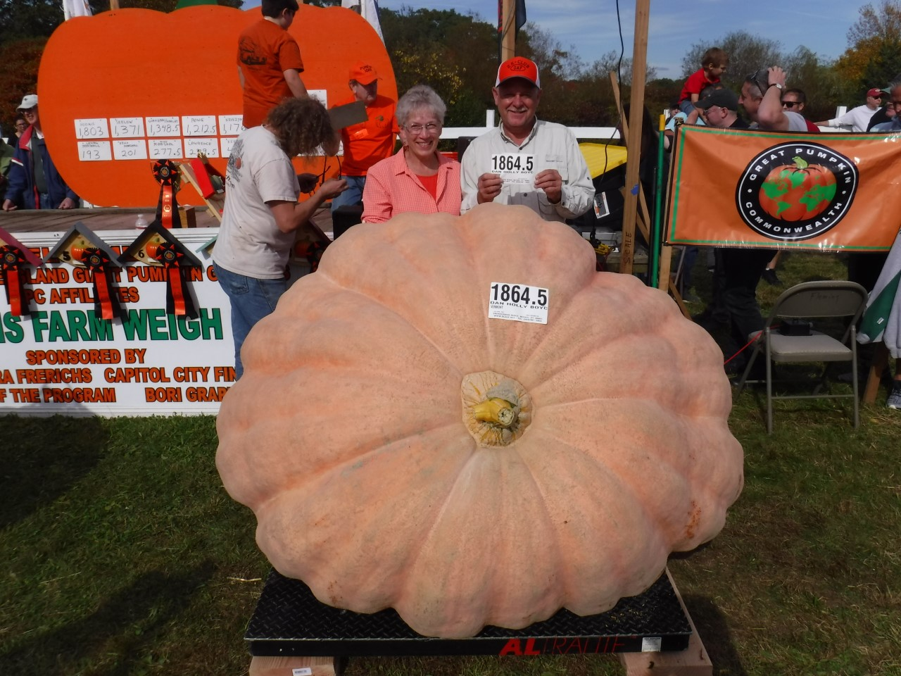 Local couple grows gigantic pumpkins