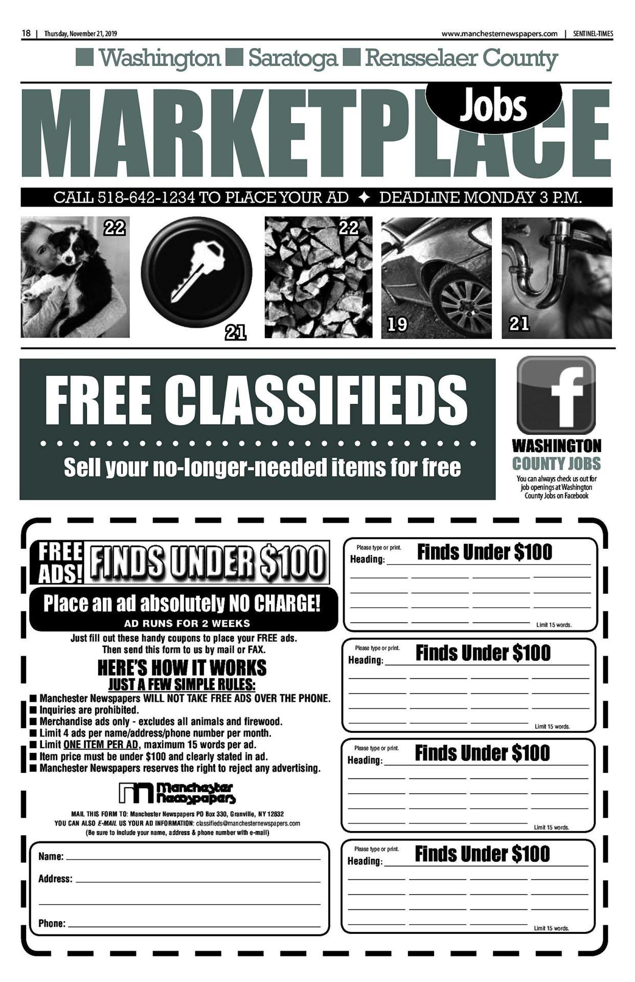 Classifieds 11/20/19