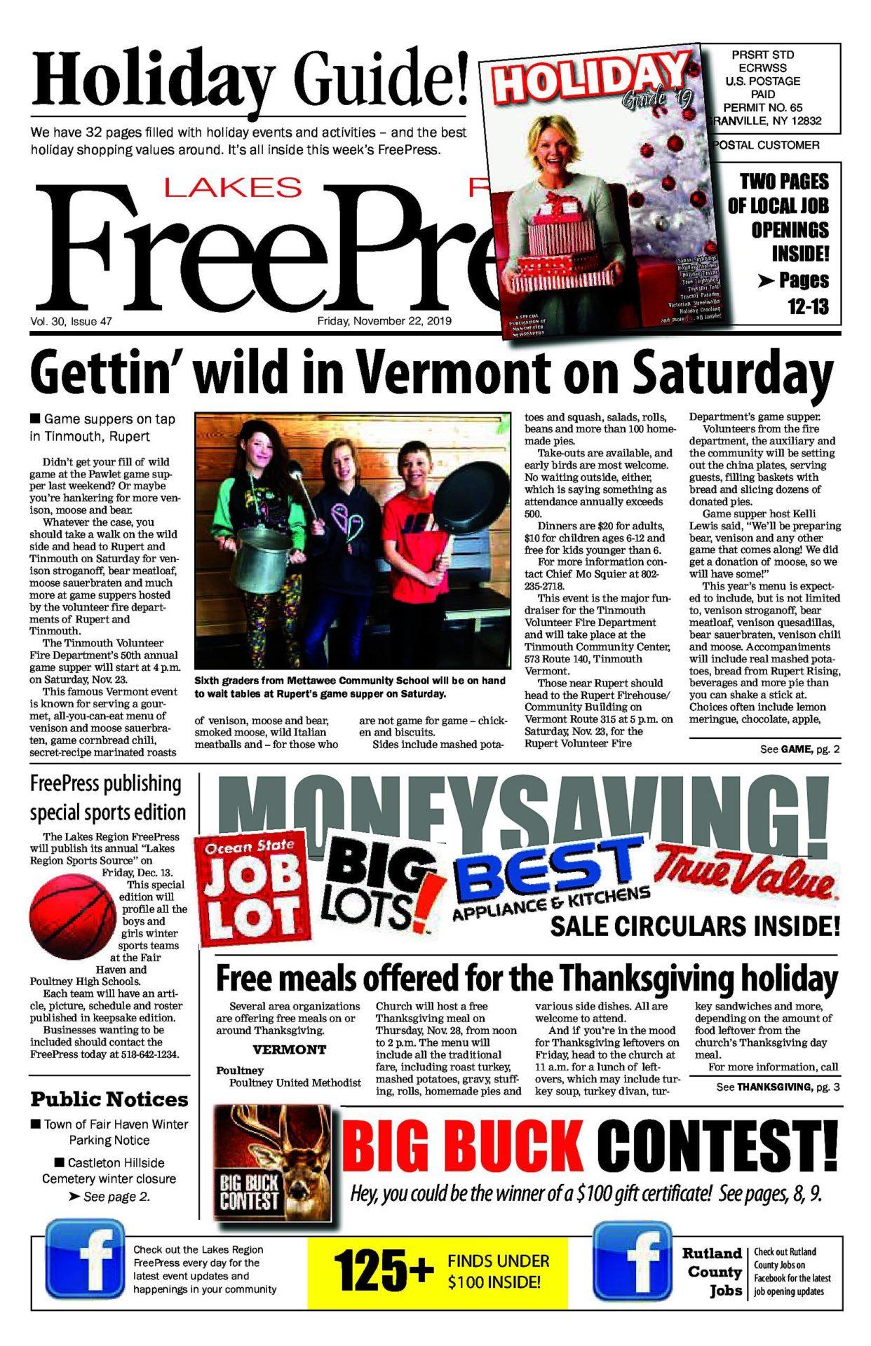 Lakes Region Freepress – 11/22/19