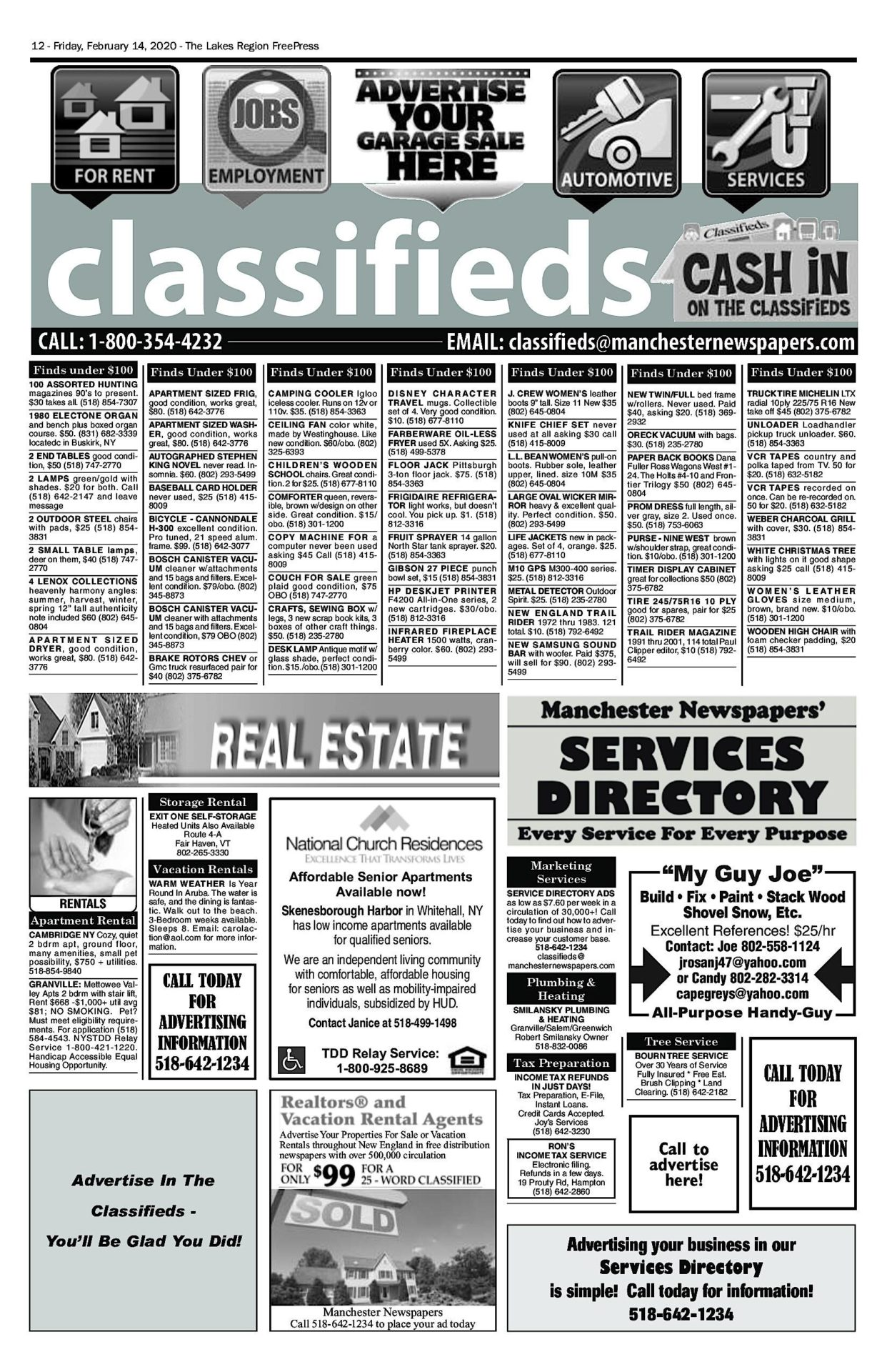 Lakes Classifieds – 02/14/20