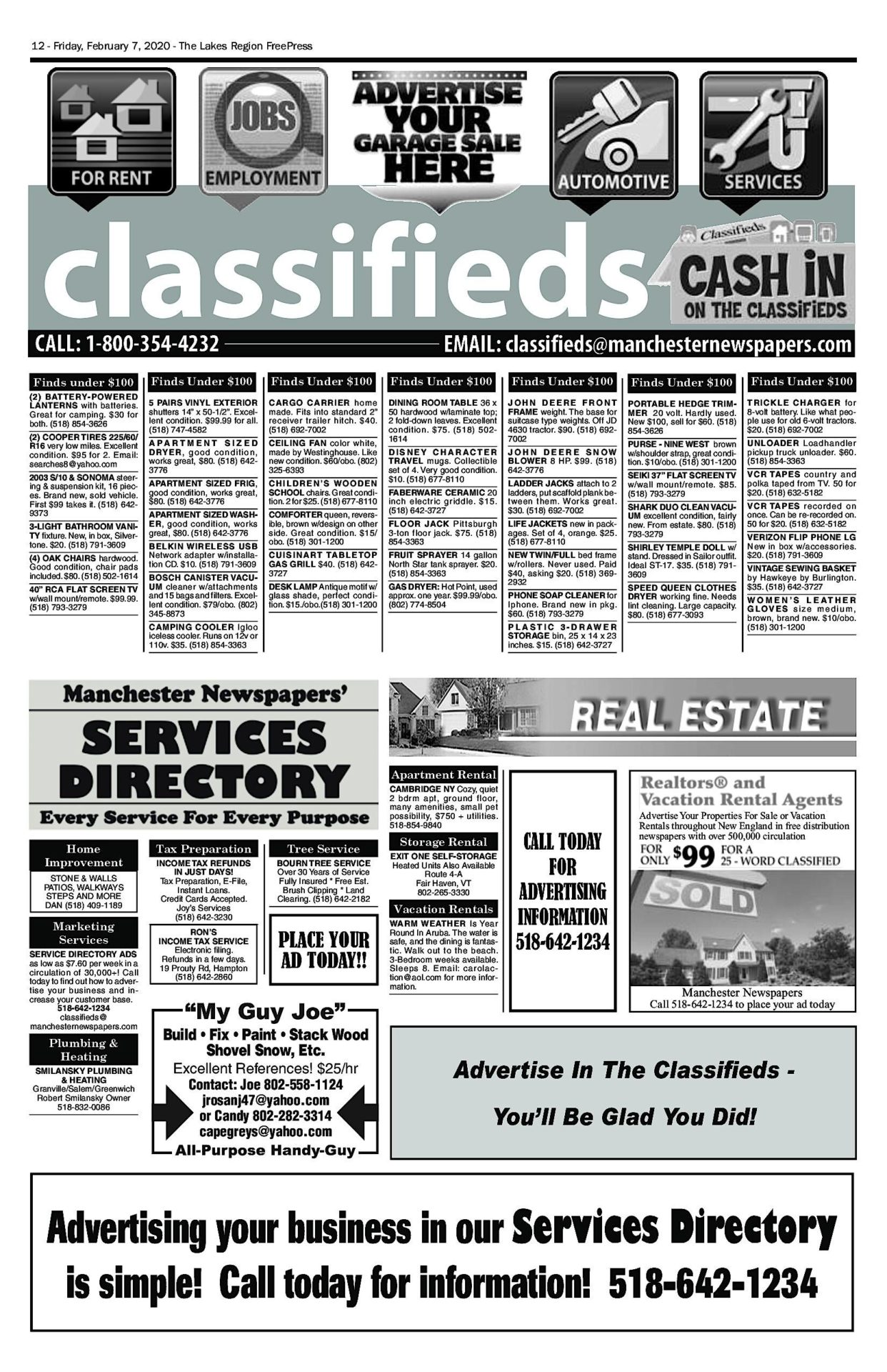 Lakes Classifieds – 02/07/20