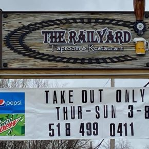 The Railyard Taproom and Restaurant is offering take-out orders and adjusting their hours due to the coronavirus pandemic.