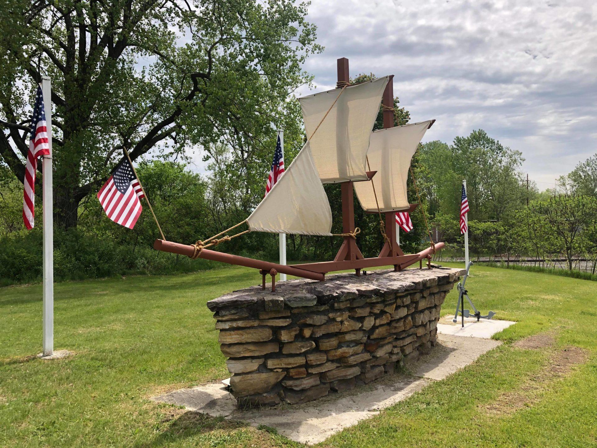Boat memorial restored