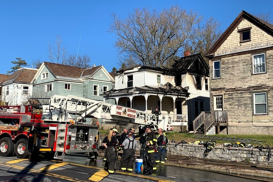 House fire closes Broadway