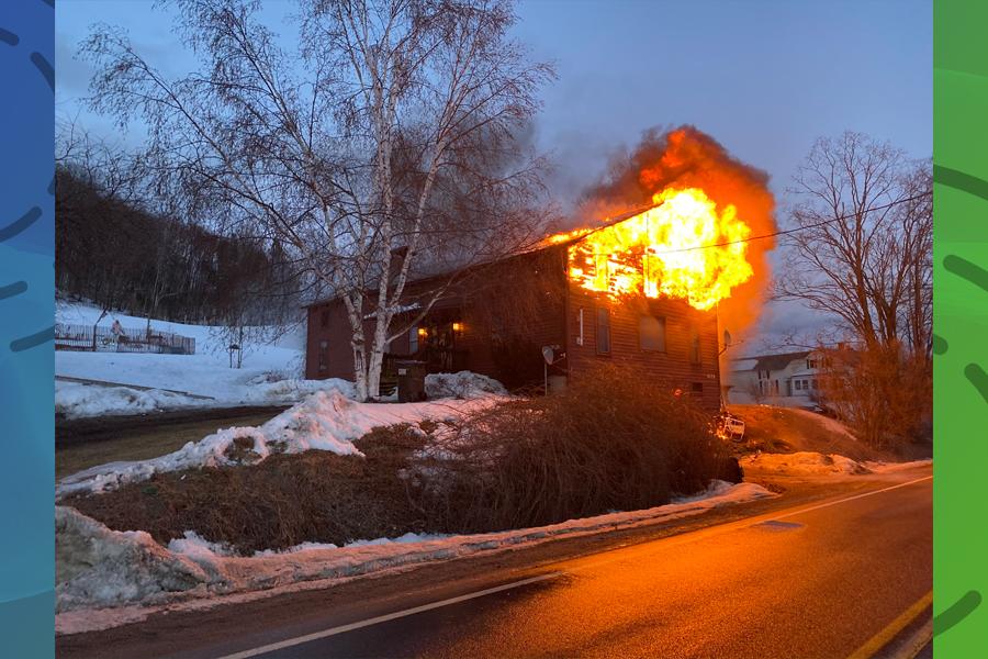 Wind-driven fire destroys Hebron home